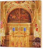 Inside St Louis Cathedral Jackson Square French Quarter New Orleans Accented Edges Digital Art Wood Print