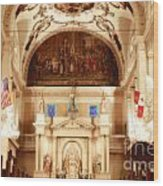 Inside St Louis Cathedral Jackson Square French Quarter New Orleans Diffuse Glow Digital Art Wood Print