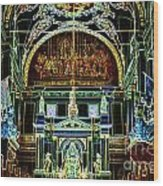 Inside St Louis Cathedral Jackson Square French Quarter New Orleans Glowing Edges Digital Art Wood Print