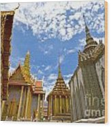 Inside The Grand Palace Bangkok Wood Print