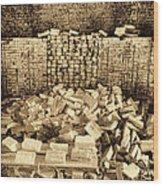 Inside The Historical Brick Kiln Decatur Alabama Usa Wood Print