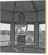 Inside The Lighthouse Tower. Uostadvaris. Lithuania. Wood Print