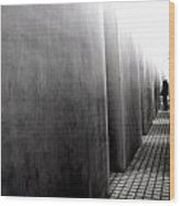 Inside The Memorial To The Murdered Jews Of Europe Wood Print