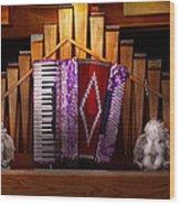 Instrument - Accordian - The Accordian Organ  Wood Print