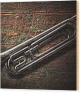 Instrument - Horn - The Bugle Wood Print