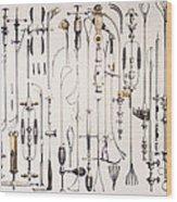 Instruments For Removing Bladder Stones Wood Print