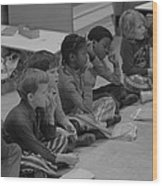 Integrated First Grade Class Of African Wood Print