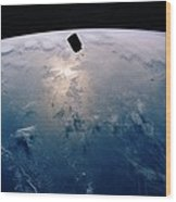 Intelsat Vi, A Communication Satellite Wood Print
