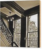 Interior Elegance Lost In Time Wood Print by DigiArt Diaries by Vicky B Fuller