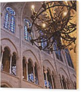 Interior Notre Dame Cathedral Wood Print
