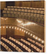 Interior Of An Illuminated Art Deco Theater Wood Print