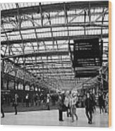 interior of central station Glasgow Scotland UK Wood Print