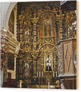 Interior San Xavier Mission Wood Print