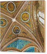 Interior St Francis Basilica Assisi Italy Wood Print by Jon Berghoff