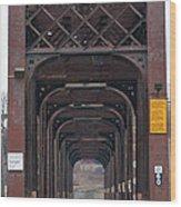 International Bridge 9671 Wood Print