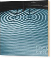 Intersecting Ripples Wood Print