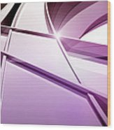 Intersecting Three-dimensional Lines In Purple Wood Print by Ralf Hiemisch