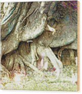 Into The Light Elves Wood Print