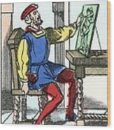 Invention Of Engraving, Medieval Europe Wood Print by Cci Archives