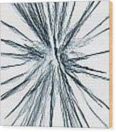 Inverted Firework Wood Print
