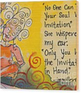 Invitation In Hand Wood Print by Ilisa Millermoon