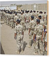 Iraqi Air Force College Cadets March Wood Print by Stocktrek Images