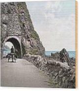 Ireland: Black Cave Tunnel Wood Print