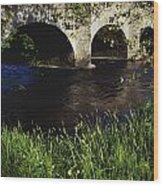 Ireland Bridge Over Water Wood Print