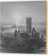 Ireland: Rosserk Abbey Wood Print