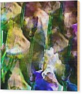 Iris 52 Wood Print