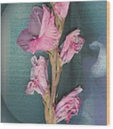 Iris And Egg Wood Print