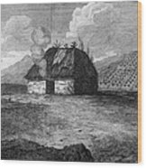 Irish Cabin, 18th Century Wood Print