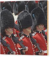 Irish Guards March Pass During The Last Wood Print by Andrew Chittock