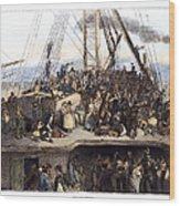 Irish Immigrants, 1850 Wood Print
