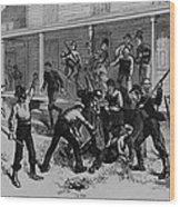 Irish Laborers Killing An African Wood Print