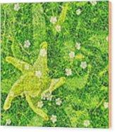 Irish Moss With A Twist Wood Print