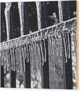 Iron And Ice 3 Wood Print