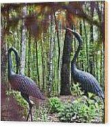 Iron Crane Posing 2 Wood Print
