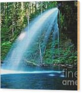 Iron Creek Falls From The Side  Wood Print