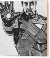 Iron Man Wood Print