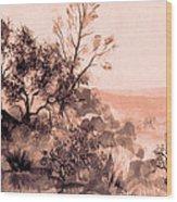 Iron Mountain Wood Print