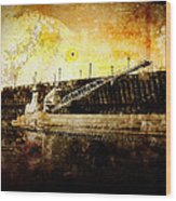 Iron Ore Freighter Wood Print