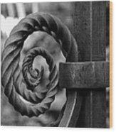 Iron Swirls Wood Print