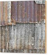 Iron Weathering A Variety Of Wall Wood Print by Chavalit Kamolthamanon