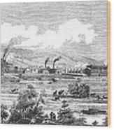 Iron Works, 1855 Wood Print