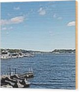 Irondequoit Bay Panorama Wood Print