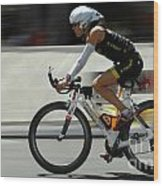 Ironman 2012 Flying By Wood Print