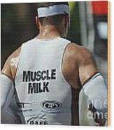 Ironman Muscle Milk Wood Print