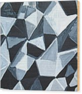 Irregular Triangle Pattern In Black And White Wood Print