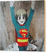 Is It A Bird Is It A Plane No It's A Painting On A Wall Wood Print by Jez C Self